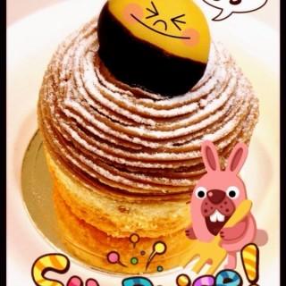 栗子蛋糕 - ใน中山區 จากร้าน台北大倉久和大飯店-The Nine 烘焙坊 (中山區)|Taipei