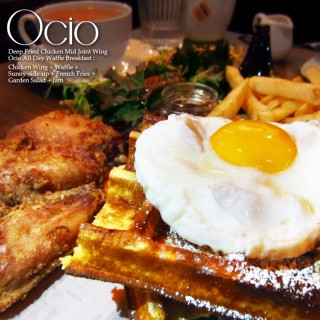 Deep Fried Chicken Mid Joint Wing Ocio All Day Waffle Breakfast - 位於旺角的Ocio (旺角) | 香港