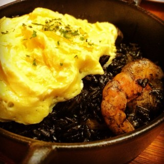 Riz Noir ( Squid Ink Rice with Seafood & Omelette ) -  Jurong East / Miam Miam (Jurong East)|Singapore