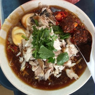Lor Mee traditionally served with Pan Fried Red Snapper -  Geylang / Xin Mei Xiang (Geylang)|Singapore