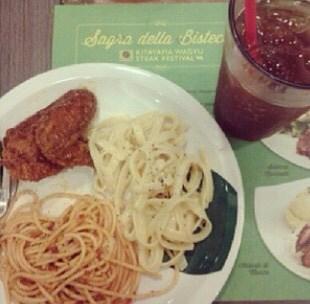 Chicken, Bolognese and Carbonara -  dari Ristorante Bigoli (North Avenue) di North Avenue  Metro Manila