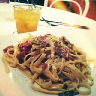 Fettucini Carbonara -  dari Pancious Pancake House (Pluit) di Pluit |Jakarta