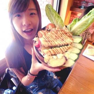 檸檬雞排沙拉 - 's Damark Café (Zhongli City)|Taoyuan