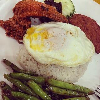 Nasi Lemak -  dari Ponggol Nasi Lemak Centre (Upper Serangoon) di Upper Serangoon |Singapura