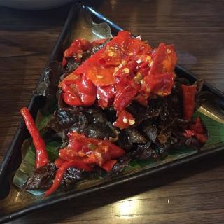 Dendeng goreng kering -  dari Remboelan Indonesian Soul Food (Senayan) di Senayan  Jakarta