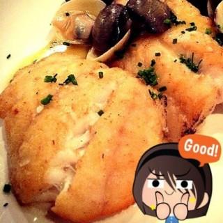 Pan fried fillet of carol grouper with clams and lemon -  Bukit Bintang / Fisherman's Cove (Bukit Bintang)|Klang Valley