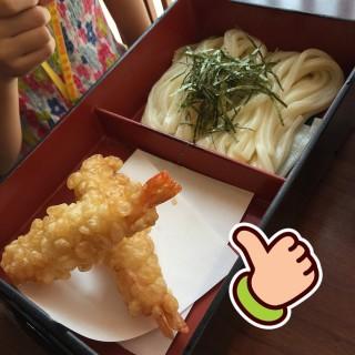 大蝦天婦羅烏冬定食 - 位於鰂魚涌的菖蒲亭 (鰂魚涌)   香港