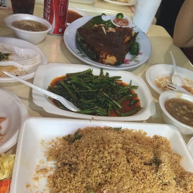 Sambal Kangkong  - Newton's Lucky Newton Seafood|Hawker Centre - Singapore