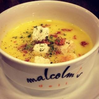 Pumpkin Soup - Fort Bonifacio 's Malcolm's Deli (Fort Bonifacio )|Metro Manila
