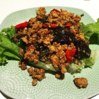Basil Chicken with century egg -  Pasir Ris / ThaiExpress (Pasir Ris)|Singapore