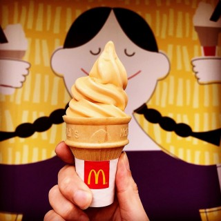 Thai Milk Tea Cone -   / McDonald's (Pasir Ris)|Singapore