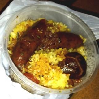 什錦腊味糯米飯+膶腸 - 位於灣仔的強記美食 (灣仔) | 香港