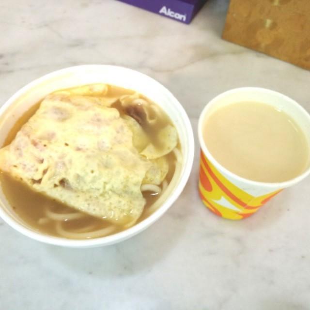 下午茶餐:火腿奄列,沙爹牛肉意粉,熱好立克 (外賣) - 銀都冰室 - 港式 - 香港仔 - 香港