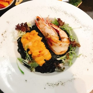 大蝦海膽墨汁天使面 - 位於太子的Franape Bar & Restaurant (太子) | 香港