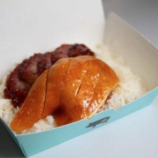 雙拼燒味飯 - 叉燒 + 豉油雞髀 - 位於金鐘的好燒味 (金鐘)   香港
