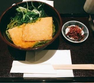 きつねの茶蕎麦 (単品) - Kyoto Station's Nakamura Tokichi Kyoto Station Store (Kyoto Station)|Kyoto