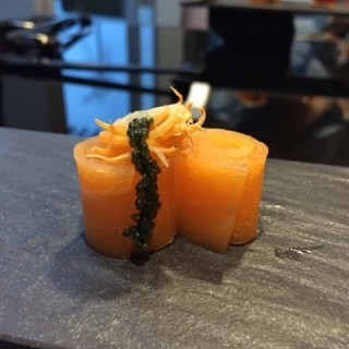 Veggie  salmon  with  umibudo - Somerset's Joie by Dozo (Somerset)|Singapore