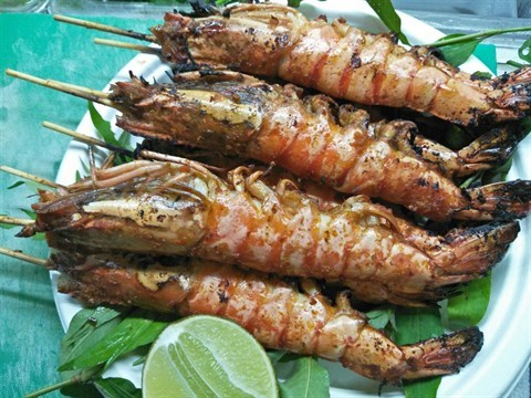 BBQ Big Tiger Prawns - Phở Việt - Chinese Soup - 如切路 - Singapore