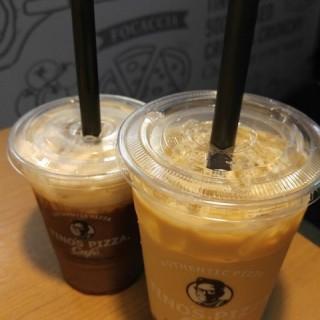 珍珠奶茶跟巧克力拿鐵 -  dari Tino's Pizza Café (中正區) di 中正區 |Taipei